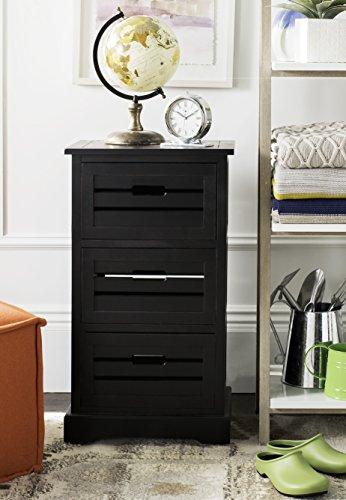 Safavieh American Homes Collection Samara 3-Drawer Cabinet Black