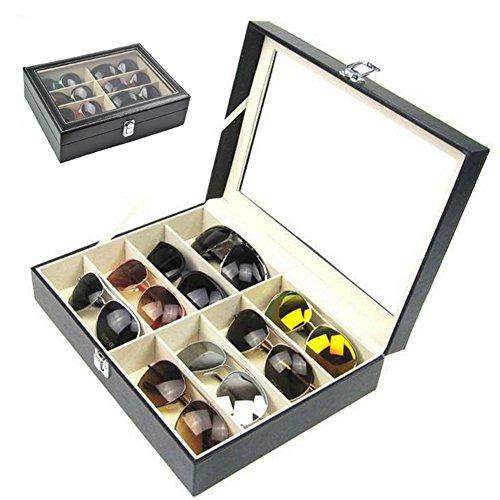 8 Slots Sunglasses Glasses PVC Case Cover Eyewear Drawer Box Collector Eye Glasses Display Holder Storage
