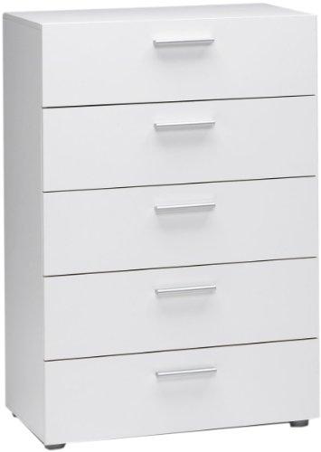Tvilum Austin 5-Drawer Dresser White