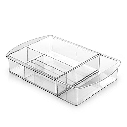 BINO Multi-Purpose Plastic Drawer Organizer 9 Section Expandable