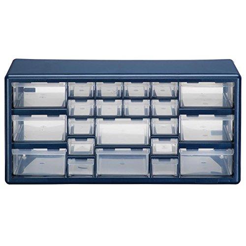 Stack-On DSLB-22 22 Bin Plastic Drawer Parts Storage Organizer Cabinet Blue