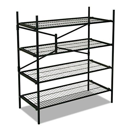 Cosco Instant Storage Shelving Unit 4 Shelves 42 34 x 20 34 x 47 34 Black
