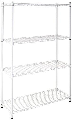 Honey-Can-Do SHF-01907 Adjustable Storage Shelving Unit 250-Pounds Per Shelf White 4-Tier 36Lx14Wx54H