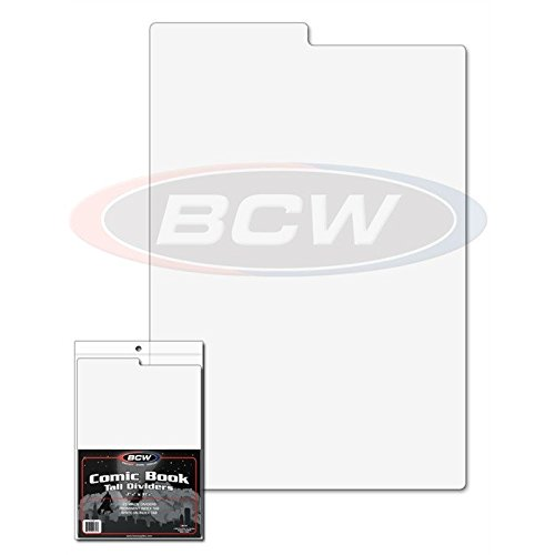 150 Tall Comic Book Dividers for Comic Book Storage Boxes