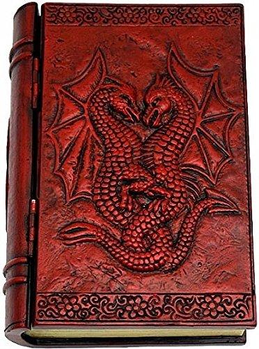 Double Dragon Polyresin Book Storage Box Red - 575L x 4W x 175T