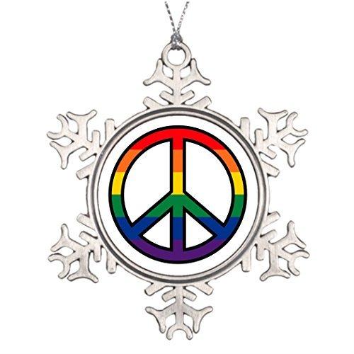 Gay Quiltbag Personalised Christmas Tree Decoration Unusual Christmas Tree Decorations Christmas Snowflake Ornaments