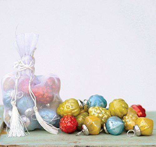 Multicolor Mercury Glass Ornaments - Bag of 36