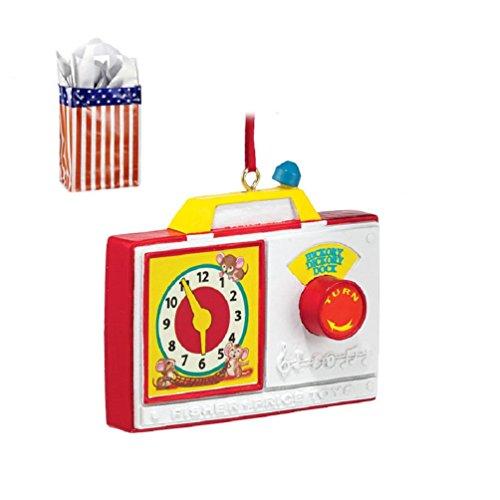 Radio Clock Fisher Price Ornament Bag - 2 Piece Gift Set