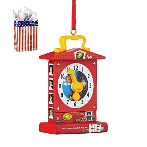 Teaching Clock Fisher Price Ornament Bag - 2 Piece Gift Set