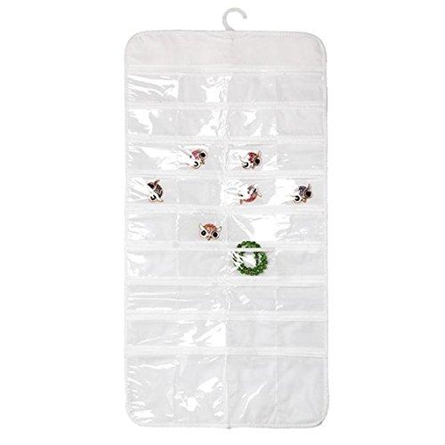 UNKE 72-Pocket Wall Hanging Jewelry Ornament Bag Hanging Organizer Storage Holder Display