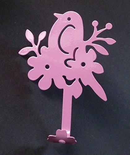 Over The Door Clothes Hook Bird Flower pink