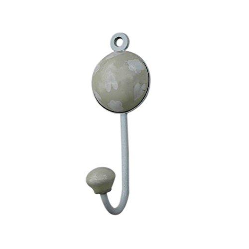Cream Heart Designer Wall Hook Hanger Key Holder Hat Clothes Hanging
