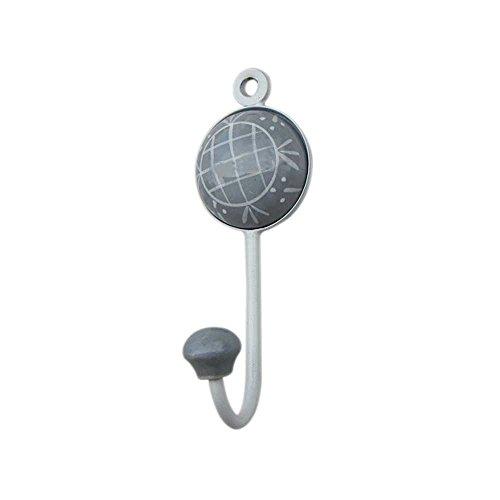 Grey Check Designer Wall Hook Hanger Key Holder Hat Clothes Hanging