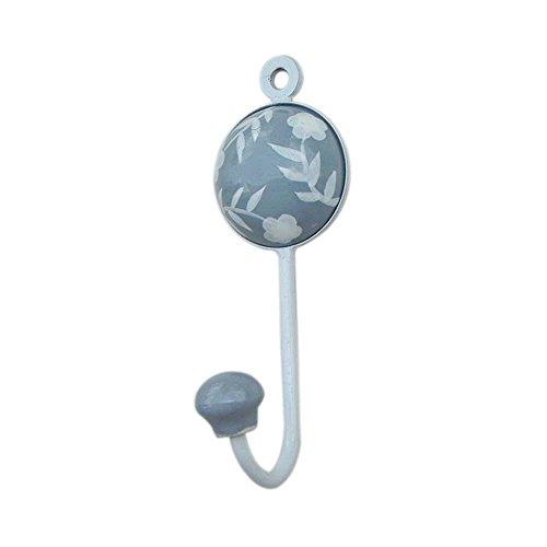 Grey Flower Leaf Designer Wall Hook Hanger Key Holder Hat Clothes Hanging