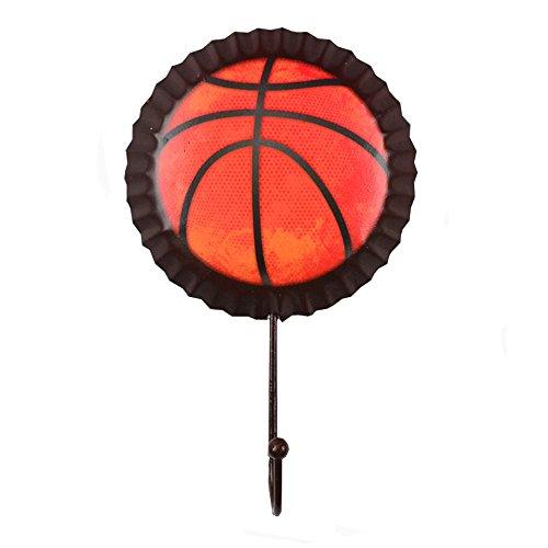 Alasida Retro Bottle Cap Wall Hooks Utility Metal Clothes Hangers Decor for Home Bar Basketball