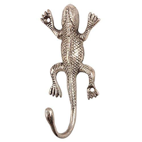 IndianShelf Handmade Silver Aluminium Lizard Wall Hooks Coat Cloth Hanger