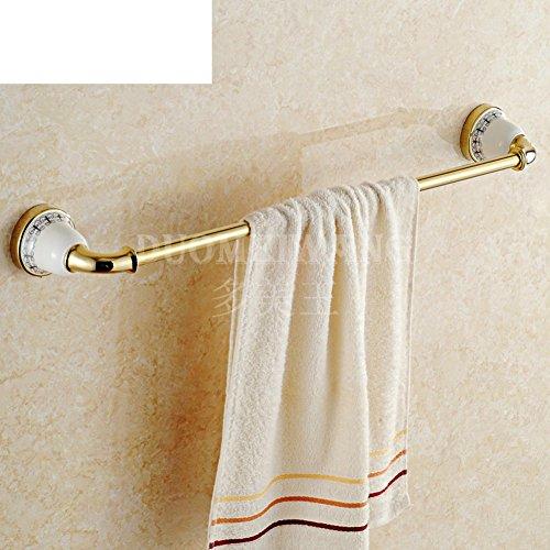 European copper Towel Bar single-layer ceramic Towel rackBathroom hardware accessories