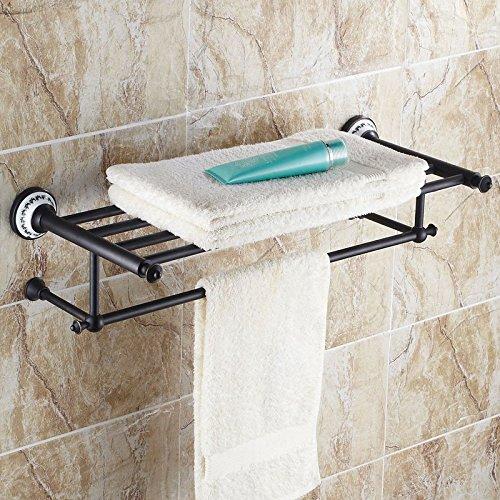 JinRou Unique design style European copper antique black bronze ceramic Towel rack Towel rack