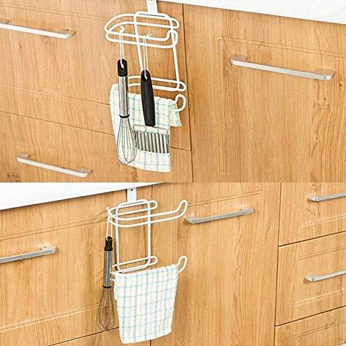Paper Holder New Iron 2 Layers Toilet Roll Paper Hooks Shelf Bathroom Hanging Organizer Kitchen Cupboard Door Towel Holder