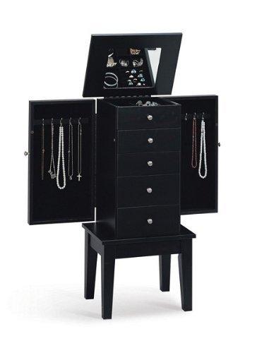 Black Jewelry Armoire - Coaster 900085