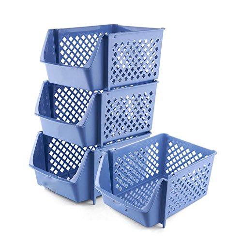 Stackable plastic storage baskets toys snacks baskets child fruits and vegetables kitchen storage glove box basket Storage basket basket glove glove basket basket storage box
