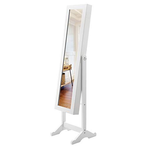 New Mirrored Jewelry Cabinet Armoire Mirror Organizer Storage Box Ring Stand Boundary Dimensions 13X 145X 56L×W×H