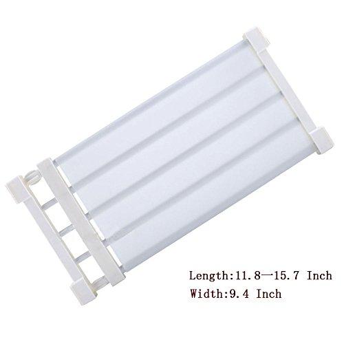 ECVISION Adjustable Scalable Shelf DividerWardrobe Armoire Bathroom Kitchen Shoe Rack Layered Separator White S