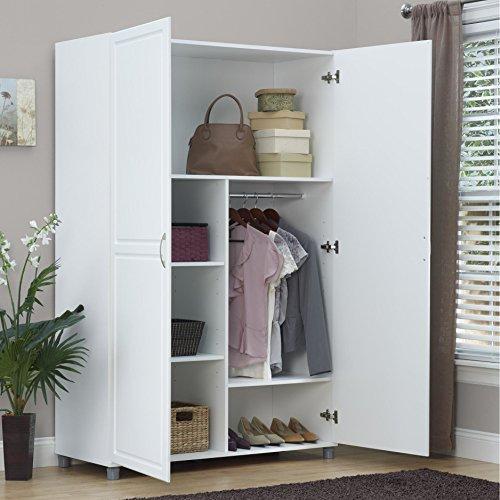 Solid Closet Storage Wardrobe Armoire Cabinet Bedroom Furniture Clothes Wood Organizer New White Dresser