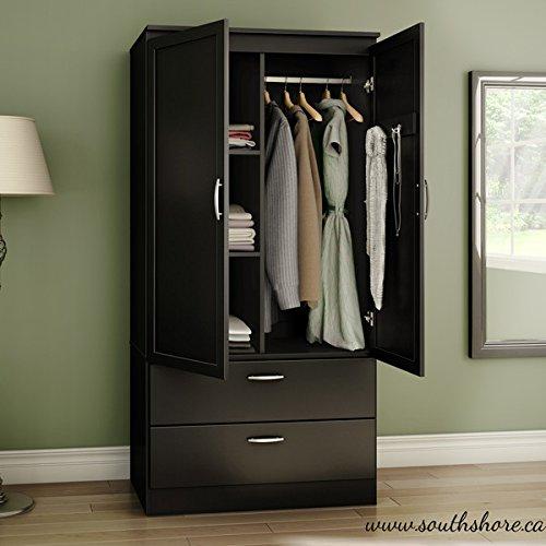 Organizer Dresser Huntington Armoire Wardrobe Closet Wood Cabinet Storage Bedroom Furniture Clothes