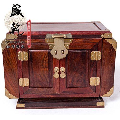 Deluxe Wooden Jewelry Organizer Box Storage Cabinet Chest Armoire Case