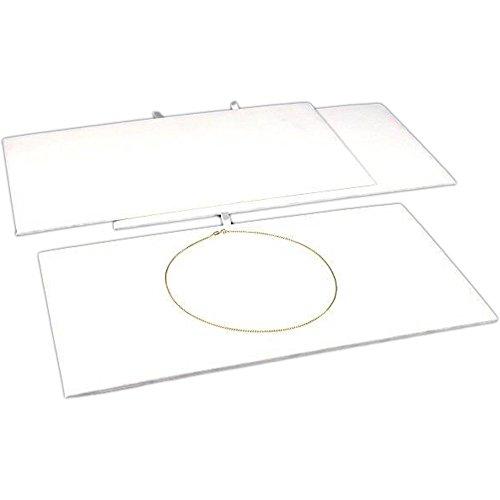 3 White Velvet Jewelry Chain Display Pad Showcase Tray Inserts 14 18