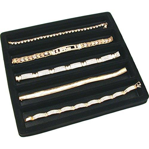 5 Black 5 Slot 12 Size Jewelry Display Tray Inserts