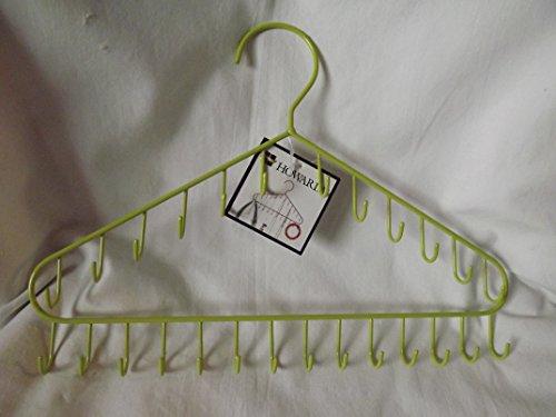 26 Hook Hanging Closet Jewelry Organizer ~ Jewelry Hanger Green