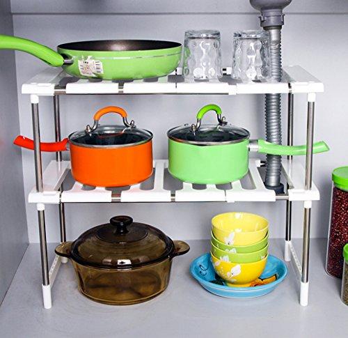 Yizaihomeland Kitchen Cabinet and Counter Shelf Organizer