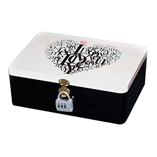 Tinplate Jewelry Storage Box Desktop Storage Tin Box with Lock