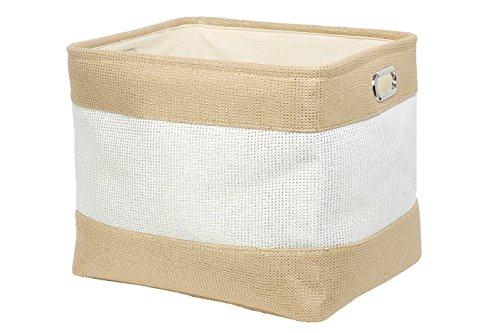 Perber Storage BasketsDecorative Foldable Rectangular Linen Fabric Storage BinLarge Enough for Storage BoxKids ToysPet ToysBaby Clothes BedroomOfficeCloset Organizer