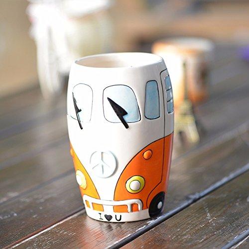 SSBY Ceramic chopstick holder 3D hand-painted kitchen storage jar storage tank creative Cutlery Storage rack