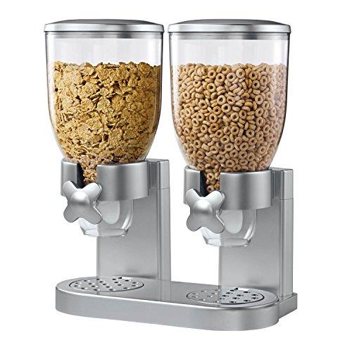 Zevro KCH-06124GAT202 Indispensable Dry Food Dispenser Dual Control Silver