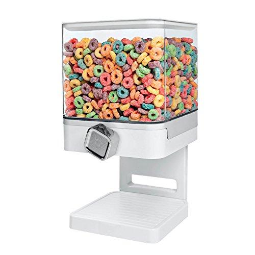 Zevro KCH-06129 Compact Dry Food Dispenser Single Control WhiteChrome