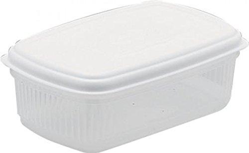 Addis Rectangular Food Storage Box Saver wih Seal Tight Lid in White  12L