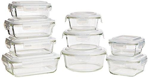 Keeperz 18-Piece Tempered Borosilicate Glass Food Storage Set
