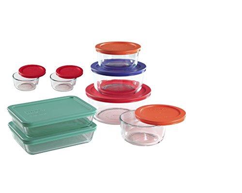 Pyrex 12 Pieces plus 4 BONUS Pieces Glass Food Storage round and rectangle containers set 16 PIECE set