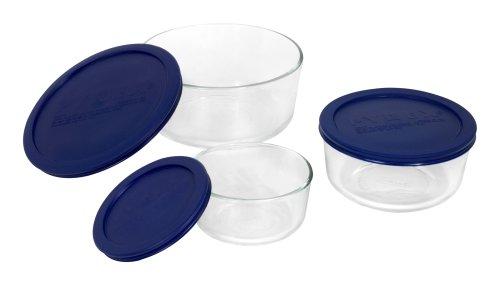 Pyrex Simply Store 6-Piece Round Glass Food Storage Set