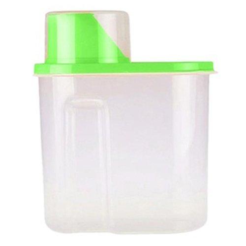 GreenSunTM Storage Boxes - 25L Plastic Food Storage Box Grain Container Kitchen Organize Tools Case Green