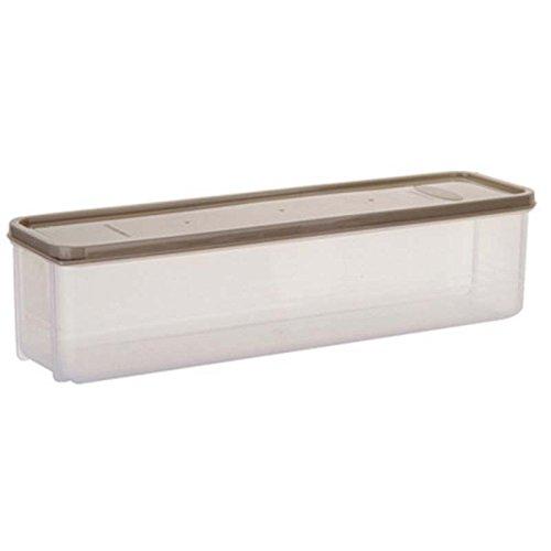 SODIALR Japanese-style noodle kitchen refrigerator box lid plastic food storage box crisper drawer finishing box £¨light Grey£