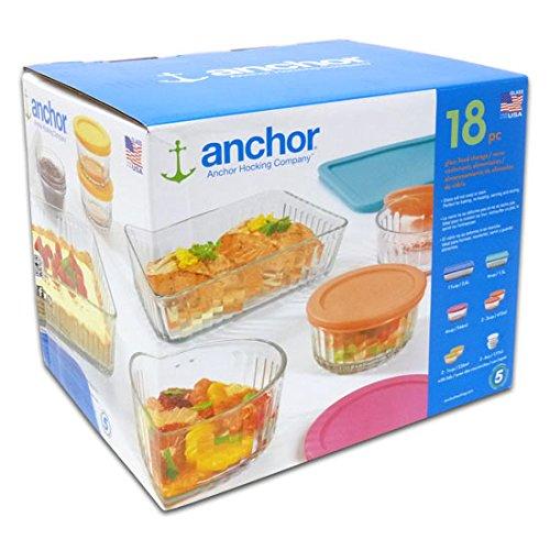 Anchor hocking 18 piece glass food storage set