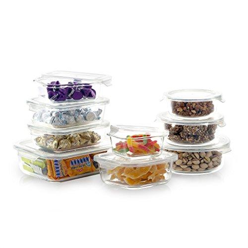 BINO 18-piece EASYSNAP Glass Food Storage Set