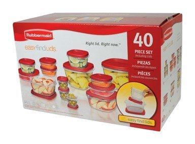 FOOD STORAGE SET 40 PC by RUBBERMAID MfrPartNo 1777169