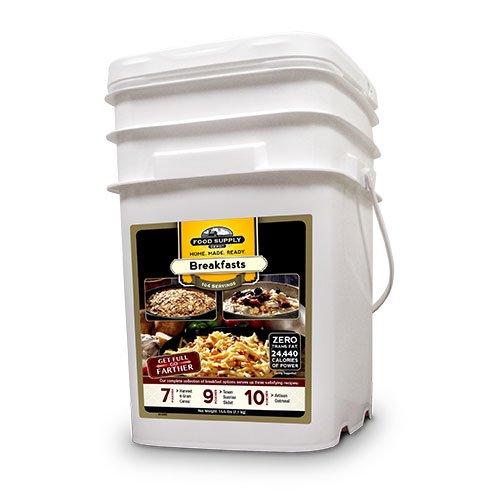 Food Supply Depot 90120001 Breakfast Variety Emergency Food Bucket