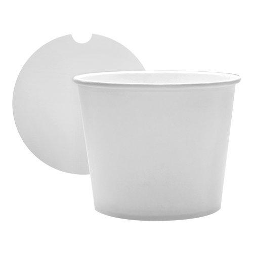 Karat 85 oz Food Buckets with Lids - White 189mm - Case of 180